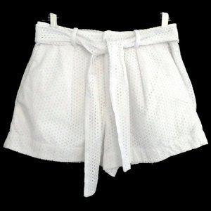 Polo Ralph Lauren Shorts White Eyelet Belt Pockets
